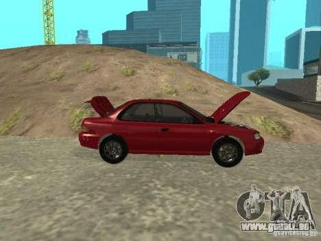 Subaru Impreza WRX STI 1995 pour GTA San Andreas vue intérieure