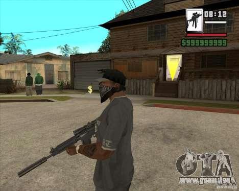 Sig550-m4 pour GTA San Andreas deuxième écran