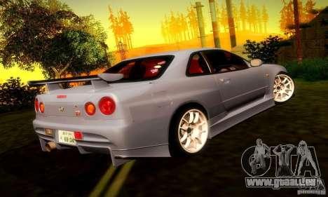 Nissan Skyline GT-R R34 pour GTA San Andreas vue de droite