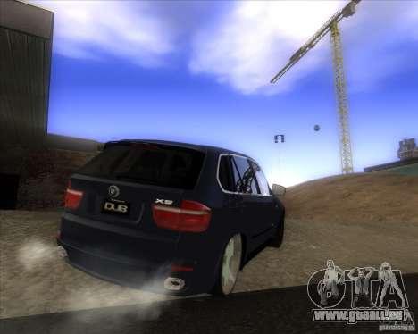BMW X5 dubstore für GTA San Andreas Rückansicht