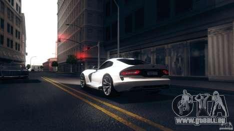 Dodge SRT Viper GTS 2012 V1.0 pour GTA San Andreas sur la vue arrière gauche