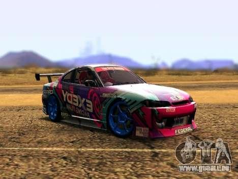 Nissan Silvia S15 EXEDY RACING TEAM pour GTA San Andreas laissé vue