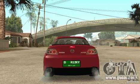 Mise en marche du moteur et les phares pour GTA San Andreas quatrième écran