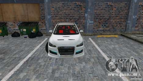 Mitsubishi Lancer Evo X pour GTA 4 Salon