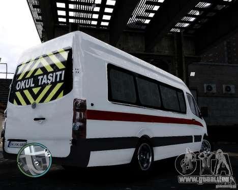 Volkswagen Crafter Turkish Schoolbus für GTA 4 hinten links Ansicht