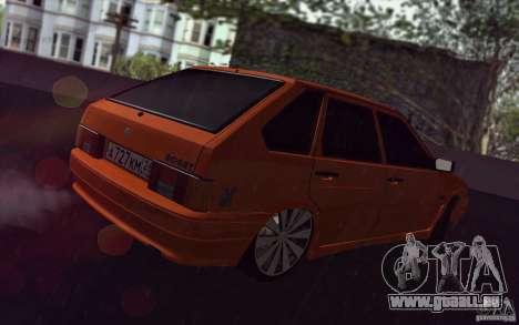 Ваз 2114 saftige Orange für GTA San Andreas Rückansicht