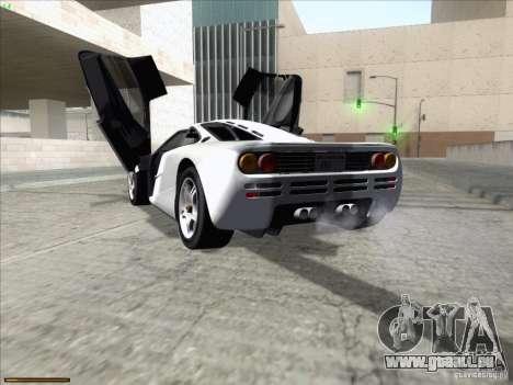 McLaren F1 pour GTA San Andreas sur la vue arrière gauche