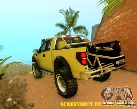 Ford F150 2011 SVT RapTor pour GTA San Andreas roue