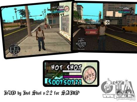 HUD by Hot Shot v.2.2 for SAMP für GTA San Andreas