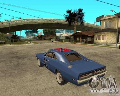 General Lee Dodge Charger General Lee für GTA San Andreas linke Ansicht