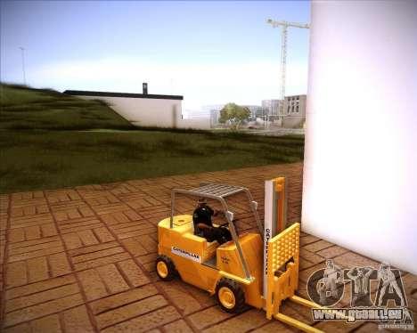 Caterpillar Torocat pour GTA San Andreas sur la vue arrière gauche