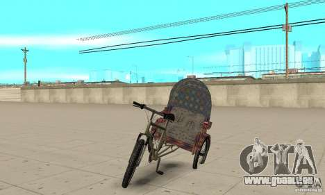 Manual Rickshaw v2 Skin5 für GTA San Andreas
