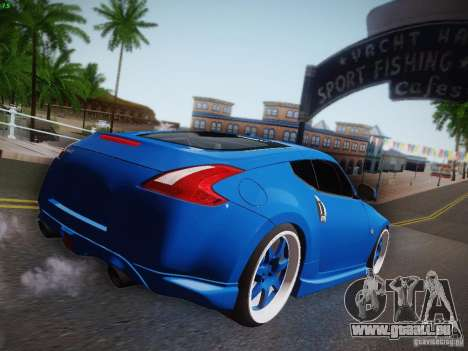 Nissan 370Z Fatlace für GTA San Andreas Rückansicht