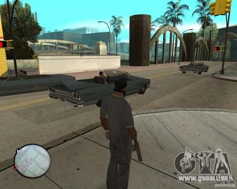 Police On Radar pour GTA San Andreas deuxième écran