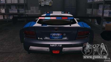 Dodge Viper SRT-10 ACR ELITE POLICE [ELS] pour GTA 4 est une vue de dessous