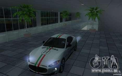 Maserati Gran Turismo S 2011 für GTA San Andreas Rückansicht