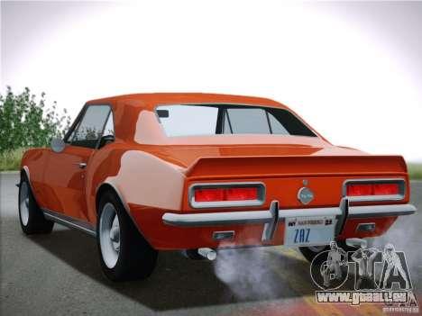 Chevrolet Camaro SS 1967 pour GTA San Andreas vue arrière