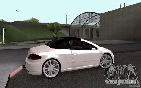 Peugeot 307CC BMS pour GTA San Andreas sur la vue arrière gauche