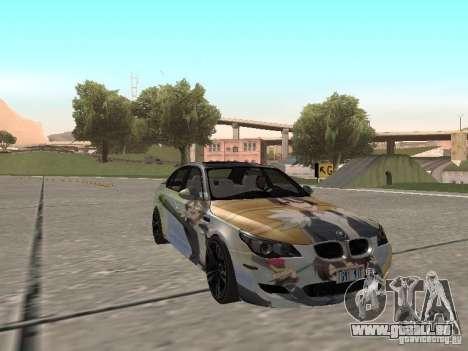 BMW M5 E60 für GTA San Andreas Unteransicht