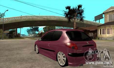 Peugeot 206 Suspen AR für GTA San Andreas zurück linke Ansicht