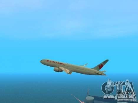 Boeing 767-300 Air Canada für GTA San Andreas Seitenansicht