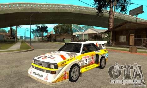 Audi Quattro S1 Group B für GTA San Andreas