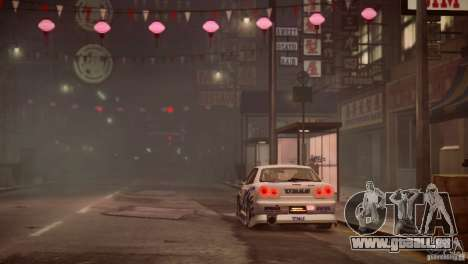Nissan Skyline R-34 v1.0 pour GTA 4 vue de dessus