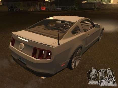 Ford Mustang 2011 GT für GTA San Andreas Rückansicht