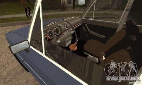 VAZ 2106 anciens v2.0 pour GTA San Andreas sur la vue arrière gauche