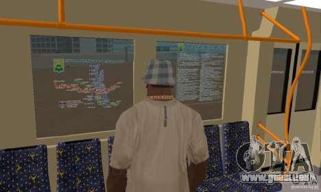 Metro 81-7021 für GTA San Andreas Rückansicht