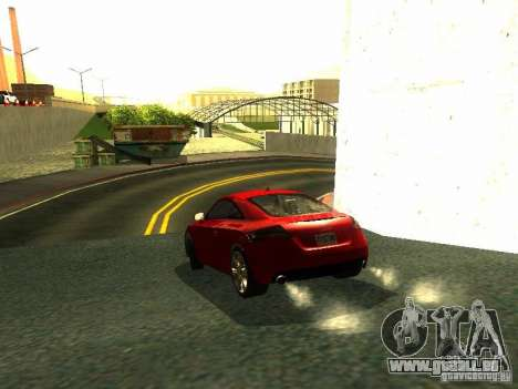 Audi TT 2009 v2.0 pour GTA San Andreas vue de droite