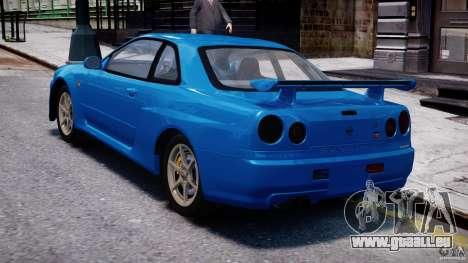 Nissan Skyline R-34 V-spec pour GTA 4 est un droit