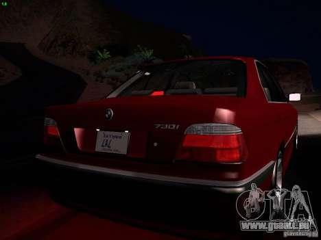 BMW 730i e38 1997 für GTA San Andreas obere Ansicht