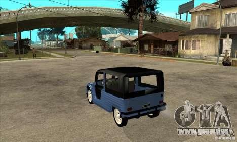 Citroen Mehari für GTA San Andreas zurück linke Ansicht