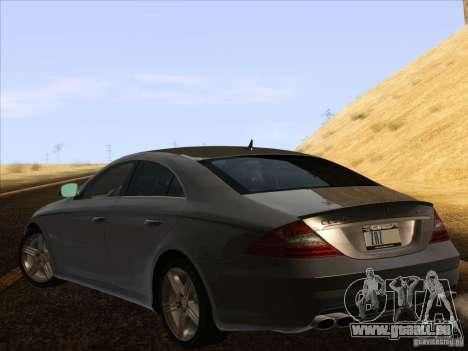 Mercedes-Benz CLS63 AMG pour GTA San Andreas laissé vue