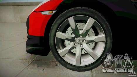 Nissan GT-R  AMS Alpha 12 pour GTA San Andreas vue arrière