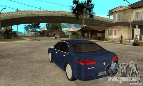 Peugeot 607 für GTA San Andreas zurück linke Ansicht