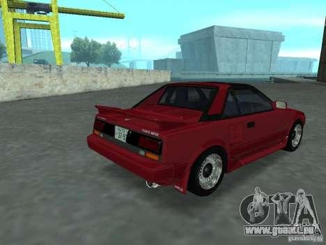 Toyota MR2 für GTA San Andreas linke Ansicht
