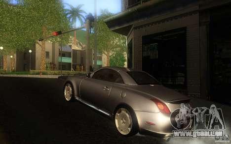 Lexus SC430 für GTA San Andreas Innenansicht