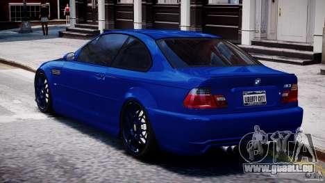 BMW M3 E46 Tuning 2001 für GTA 4 hinten links Ansicht