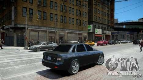 Lada Priora Light Tuning pour GTA 4 Vue arrière