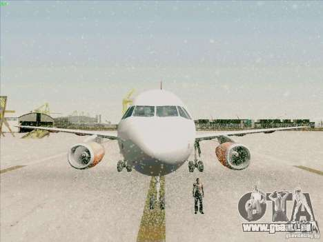 Airbus A319 Easyjet für GTA San Andreas obere Ansicht