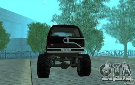 Ford Bronco Monster Truck 1985 für GTA San Andreas rechten Ansicht