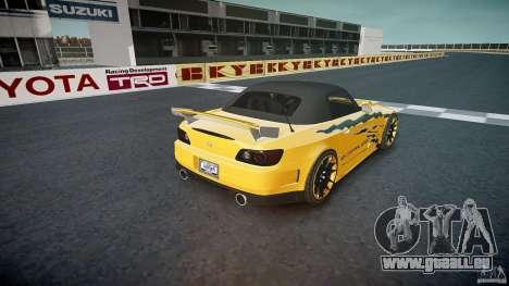 Honda S2000 Tuning 2002 3 Haut Ruhe für GTA 4 Unteransicht