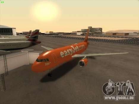 Airbus A320-214 EasyJet 200th Plane für GTA San Andreas zurück linke Ansicht