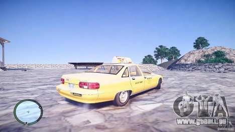 Chevrolet Caprice Taxi für GTA 4 hinten links Ansicht