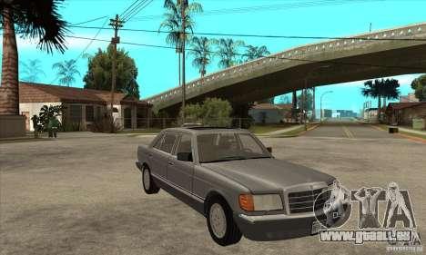 Mercedes Benz W126 560 v1.1 für GTA San Andreas Rückansicht