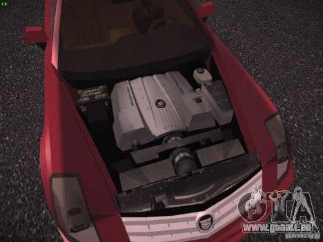 Cadillac XLR 2006 pour GTA San Andreas vue intérieure
