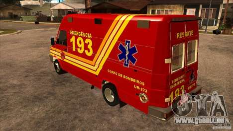 Iveco Daily UR Bombeiros SP für GTA San Andreas zurück linke Ansicht