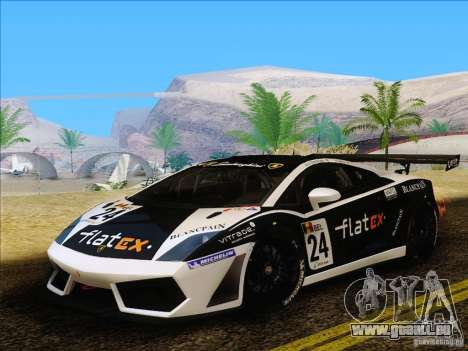 Lamborghini Gallardo LP560-4 GT3 V2.0 für GTA San Andreas zurück linke Ansicht